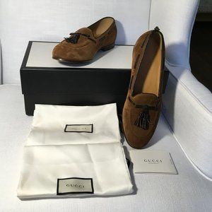 GUCCI SHOES MOCCASIN,  COCOA COLOR,  GI 1